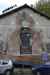 Borondo - Circolo Mario Mieli - Via Ostiense - Roma
