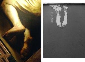 Piedi - Caravaggio ed Herbert Baglione