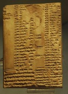 Tavoletta in terracotta con testo lessicale - VII/VI sec. a.C. - Periodo Neo Babilonese