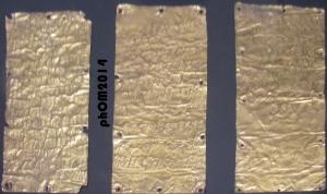Due lamine in limgua etrusca ed una in lingua fenicia - Fine VI secolo a.C.