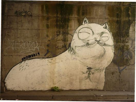 Il gatto sornione - Hitnes - Ponte Ostiense