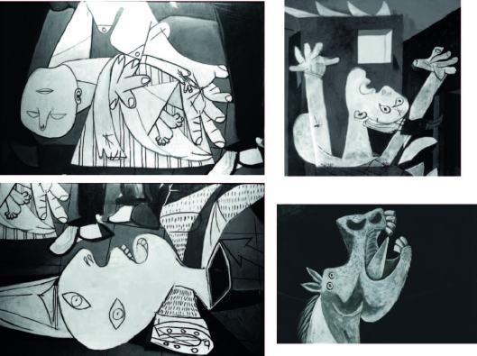 Guernica (particolari) - Pablo PIcasso