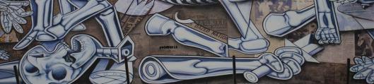 X Ray Guernica (particolare) - Ron English - Piazza Giustiniani - Roma