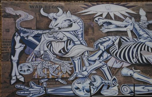 X Ray Guernica - ron English - Piazza Giustiniani - Roma