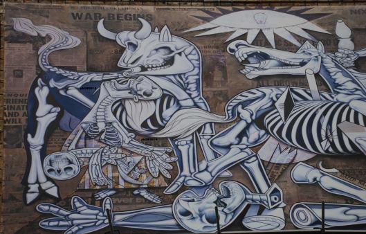 X Ray Guernica - ron English - Piazza Giustiniani - Roma