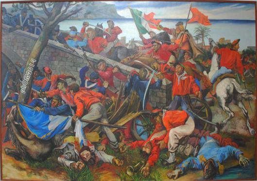 La Battaglia di Ponte Ammiraglio - Renato Guttuso - Galleria Nazionale d'Arte Moderna - Roma
