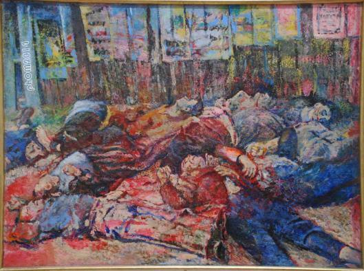 Guerra Civile (I Martiri di Piazzale Loreto) - Aligi Sassu - Galleria d'Ate Moderna - Roma