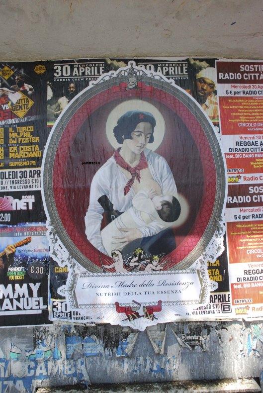 Divina Madre della Resistenza - Ex Voto - Piazzale Ostiense - Roma
